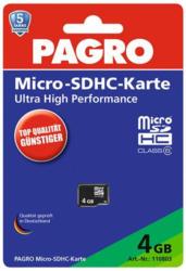 PAGRO Micro-SDHC Speicherkarte 4 GB