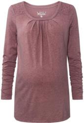 Damen Umstands-Langarmshirt mit Spitze