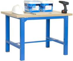 Werkbank BT-6 Plywood, Farbe: Blau / Holz, Maße: 86,50 x 180 x 75 cm (H x B x T), Traglast: 800 kg