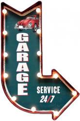Leuchttafel Garage