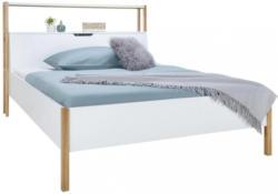 Bett Weiß/Eichefarben ca.160x200cm