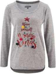 Damen Feinstrickshirt mit Weihnachtsmotiv