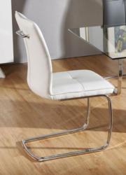 Stuhl Maridi 12, Farbe: Weiß - Abmessungen: 95 x 45 x 62 cm (H x B x T)