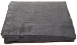 Lovely Linen Tischdecke 145x250 - Dark Grey