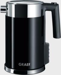 GRAEF WK702 Wasserkocher Edelstahlgehäuse, Acryl schwarz