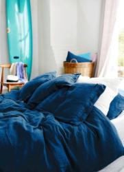 Lovely Linen Deckenüberzug 135x200 - Denim Blue