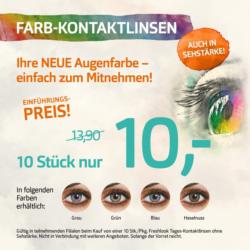 Farb-Kontaktlinsen zum Einführungspreis: 10 Stück nur 10,-