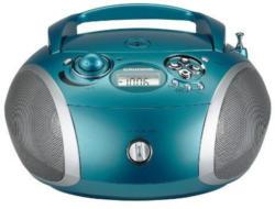 Grundig RCD 1445 USB aqua/silber Radio mit CD-Player/MP3- WMA-Wiedergabe
