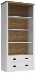 Bücherregal Segnas 13, Farbe: Kiefer Weiß / Eiche Braun - 198 x 90 x 43 cm (H x B x T)