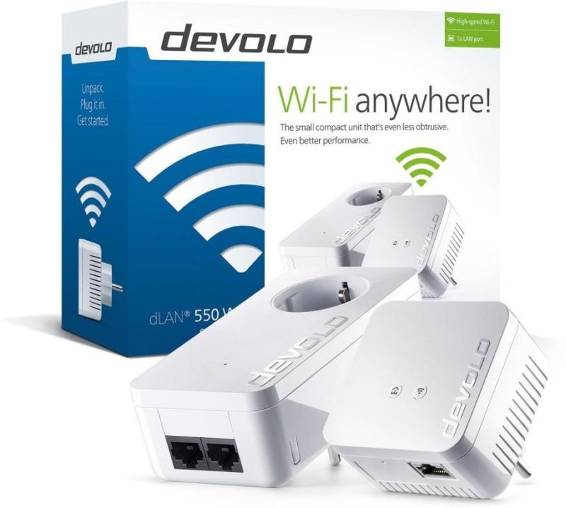 devolo dLAN 550 WiFi Starter Kit Powerline 9623