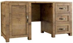 Schreibtisch Sardona 02, Farbe: Eiche Braun - 80 x 167 x 62 cm (H x B x T)