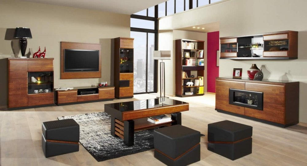 Wohnzimmer Komplett Set C Postira 11 Teilig Teilmassiv Farbe