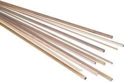 Messing Vierkant Rohr (L x B x H) 500 x 10 x 10 mm Innen-Durchmesser: