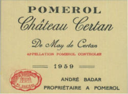 Chateau Certan de May 2014