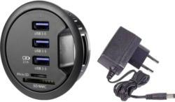 3 Port USB 3.0 Tisch-Hub mit eingebautem SD-Kartenleser, mit