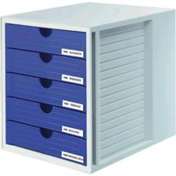 HAN Schubladenbox SYSTEMBOX 1450-14 Lichtgrau DIN A4, DIN C4 Anzahl