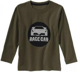 Jungen-Shirt mit Rennwagen-Wendepailletten
