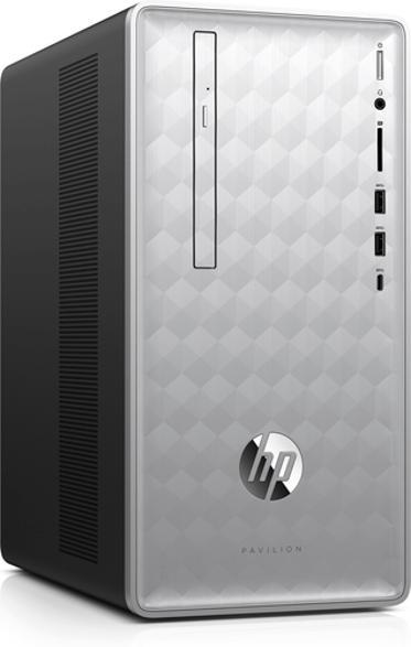 Gaming-PCs - HP 590-p0001ng, Desktop PC mit Core™ i5 Prozessor, 16 GB RAM, 1 TB HDD, 256 GB SSD, GeForce GTX 1050, 2 GB
