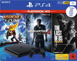 PlayStation 4 Konsolen - SONY PlayStation 4 1TB Schwarz + The Last of Us Remastered + Uncharted 4 + Ratchet & Clank