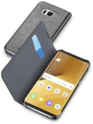 Cellularline Bookcover Galaxy S8 Plus VIVANCO A38446 BOOKESSGALS8PLK schwarz, mit Kartenfach