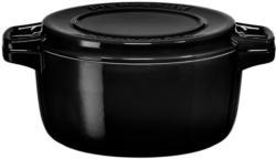 KitchenAid KCPI60CROB schwarz Bräter rund 28 cm Gusseisen