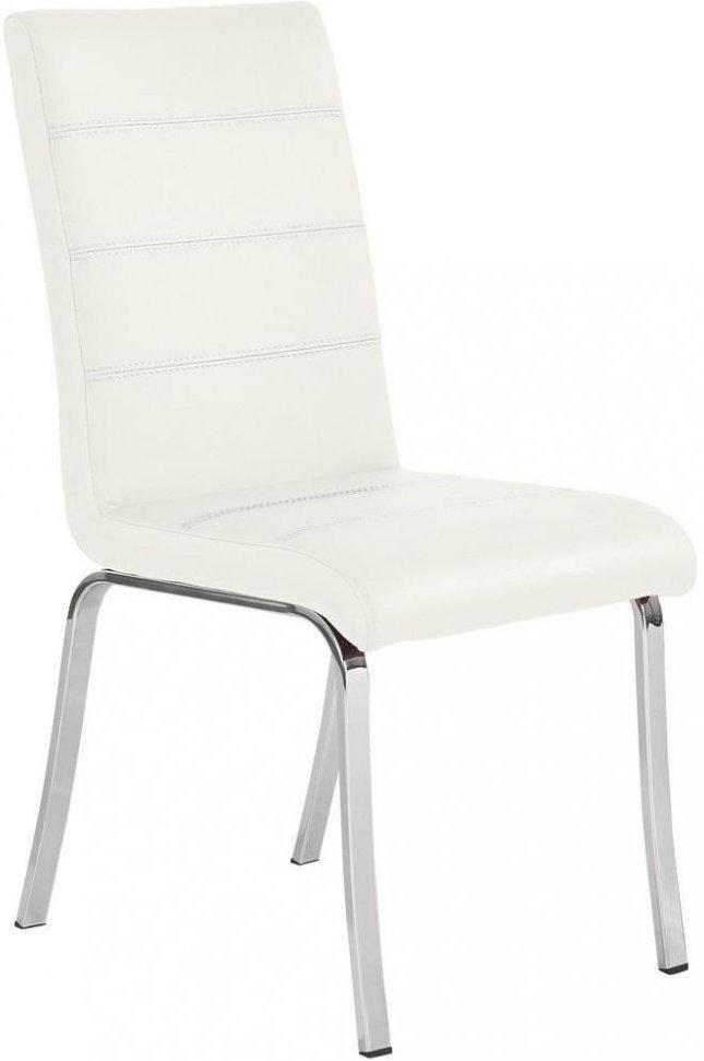 Stuhl In Metall Textil Weiss Chromfarben Nur 132 49 Statt 159