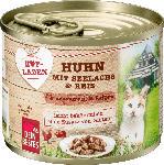dm-drogerie markt Dein Bestes Hofladen, Nassfutter für Katzen, Huhn mit Seelachs und Reis für magensensible Katzen
