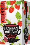 dm-drogerie markt Cupper Früchte-Tee, strawberry & rhubarb infusion, Erdbeere & Rhabarber, aromatisiert (20x2,5g)