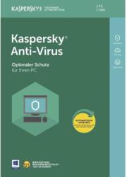Kaspersky Lab Anti-Virus Vollversion, 1 Lizenz Windows Antivirus