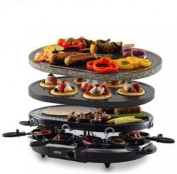Raclette-Grill RG-S 93 Grau, Schwarz