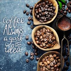 Keilrahmenbild Coffee Is Always.. Multicolor