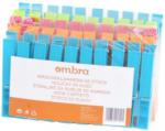 Möbelix Wäscheklammern 50er Packung Blau, Grün, Orange, Rosa