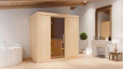 Sauna Giulia 05, 68 mm Wandstärke - 196 x 118 x 198 cm (B x T x H) - Ausführung:inkl. Ofen mit externer Steuerung