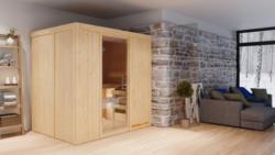 Sauna Giorgia 07, 68 mm Wandstärke - 196 x 151 x 198 cm (B x T x H) - Ausführung:inkl. Bio-Ofen mit externer Steuerung