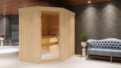 Sauna Alice 07, 68 mm Wandstärke - 196 x 151 x 198 cm (B x T x H) - Ausführung:inkl. Ofen mit externer Steuerung