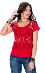 Cipo & Baxx Damen T-Shirt im Destroyed-Look