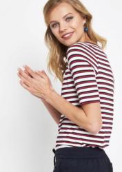 COMMA Jersey-Kurzarmshirt mit klassischem Streifenmuster