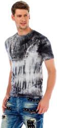 Cipo & Baxx Herren T-Shirt mit 3D-Print und Batik