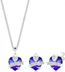 Elli Schmuckset »Herz Glamourös Swarovski® Kristalle 925 Silber«