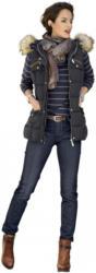 Alba Moda Jeans mit tonigem Hahnentrittmuster
