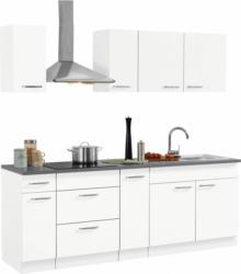 Küchen Küchenzeile ohne E-Geräte, »Basel« Breite 220 cm