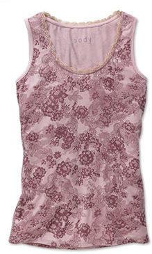 Hemdchen, rosé mit floralem Allover-Print