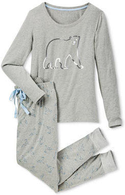 Pyjama mit Paillettenmotiv