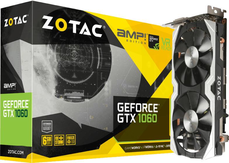 NVIDIA GTX 1060 - ZOTAC GeForce® GTX 1060 AMP! Edition 6GB (ZT-P10600B-10M) (NVIDIA, Grafikkarte)