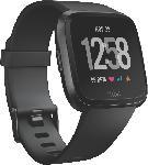 Media Markt Smartwatches - FITBIT  Versa Smartwatch Aluminium, Elastomer, S-L, Schwarz/Schwarz
