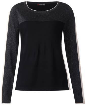 Color-Block-Pulli mit Metall