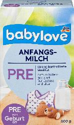 babylove Anfangsmilch Pre von Geburt an