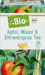 dm-drogerie markt dmBio Früchte- & Kräuter-Tee Apfel, Minze & Zitronengras (20x2g)