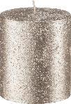 dm-drogerie markt Profissimo Stumpenkerze Rustik 80/68 metallic platin