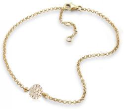 Elli Fußkette »Kugel Swarovski® Kristalle 925 Sterling Silber«